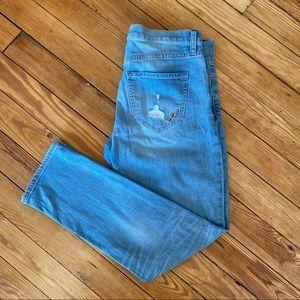 Express Women's Blue Girlfriend Jeans Size 6
